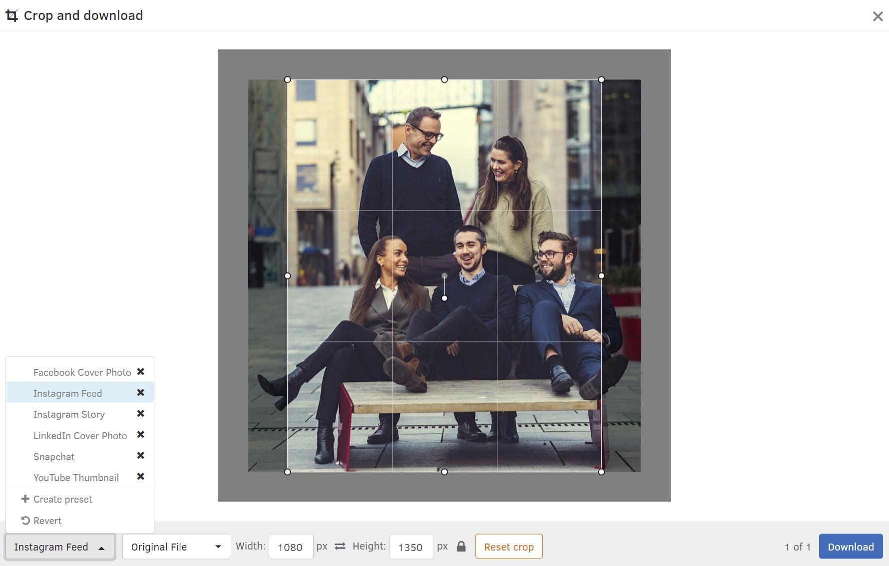 FotoWare DAM solution_Crop and Download