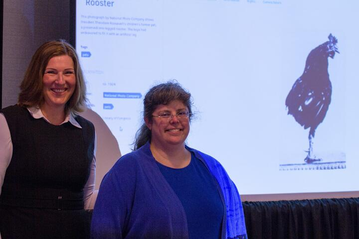 FotoWare's CEO, Anne Gretland, and The White House Historical Association Director of Library, Stephanie Tuszynski