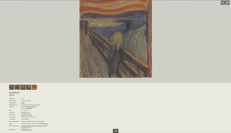 Nasjonal Museet DAM - Munch Screenshot