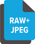 what it means when camera is storing both a RAW and JPEG version