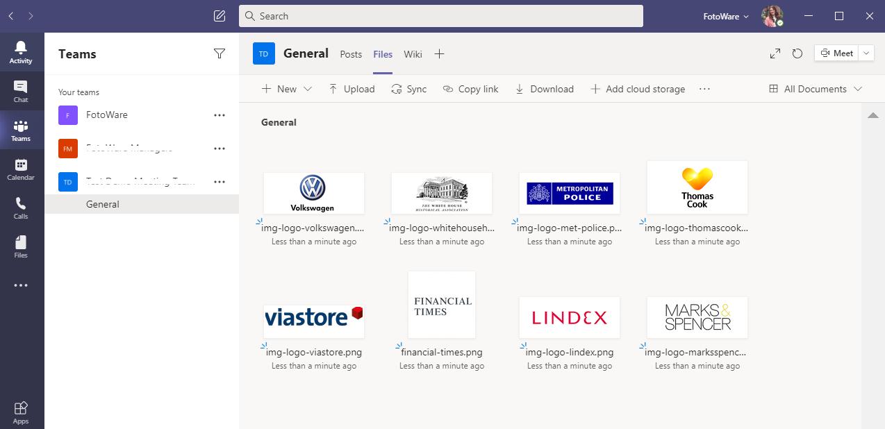 Microsoft Teams Tile View