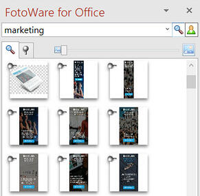 Search in the FotoWare plugin for Microsoft Office