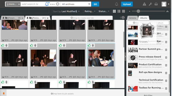 share a selection of files externally post a big event