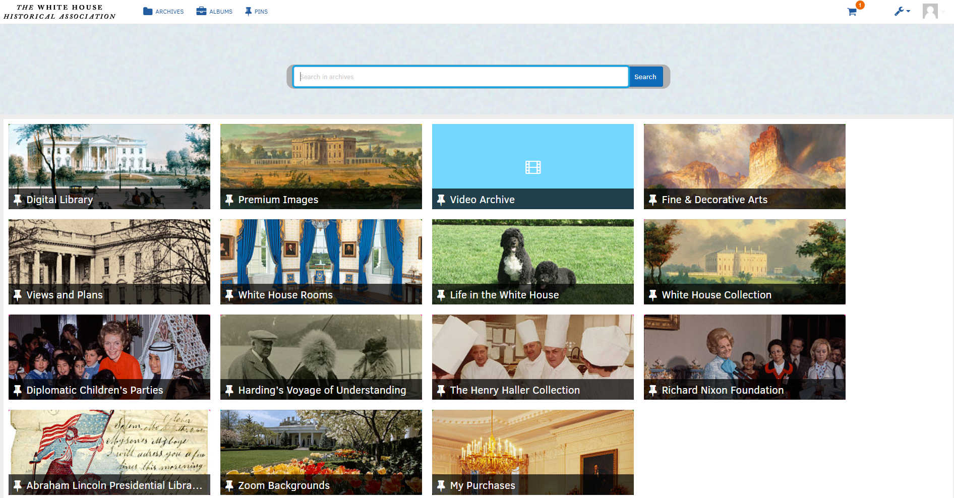 The White House Historical Association Digital Library