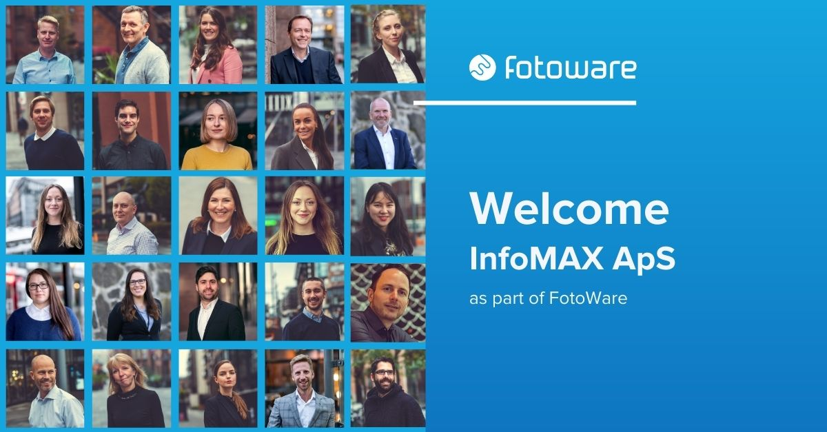 Image of FotoWare employees in relation to FotoWare's acquisition of Danish InfoMAX ApS