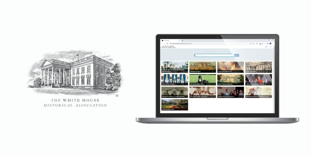 The White House Historical Association's Digital Library home screen