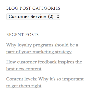 Recent Posts in a Blog Example