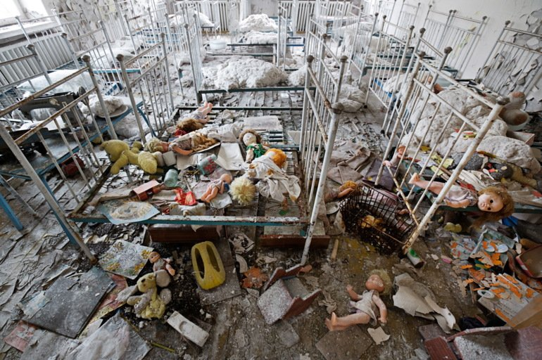 On the day of the Chernobyl disaster, children oblivious to the nuclear accident played in this kindergarten