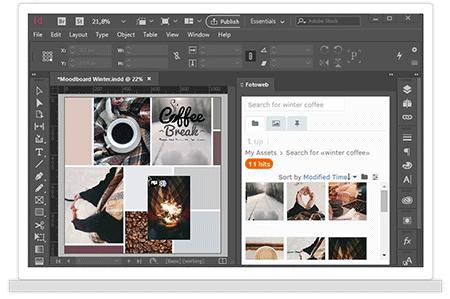 In Adobe InDesign