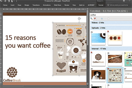Great UX with plugins for PowerPoint, Word and Adobe InDesign!