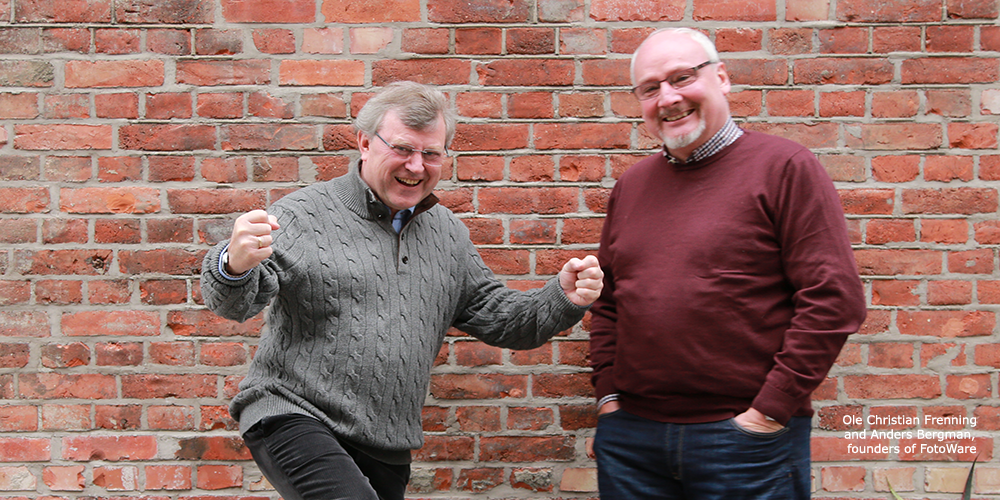 Ole Christian Frenning and Anders Bergman, founders of FotoWare